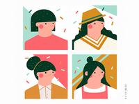 Draw a few fun avatars I hope everyone likes it.