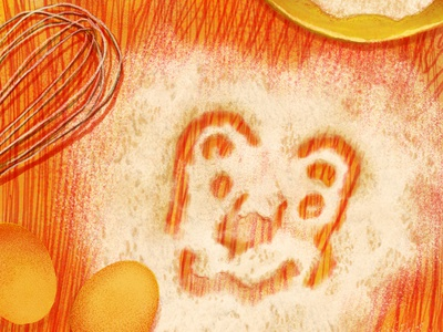 Lion have fun childrens illustration lion flour illustration illo food illustration baking digital art chief