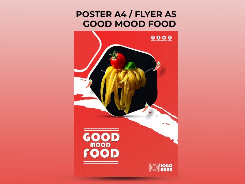 Good Mood Food food and drink good food good mood good mood food food poster food flyer poster design flyer design festival poster festival advertising flyer advertising design advertising