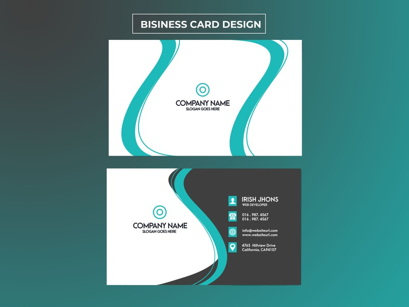 Blue Black Elegant Business Card black design elegant design business card design business card branding businesscard