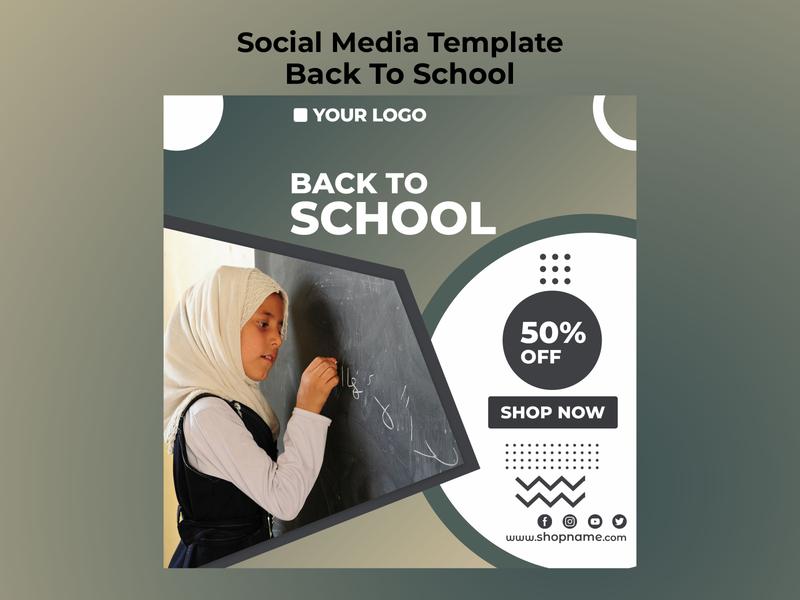 Back to School Social Media Template social media templates creative design instagram post facebook