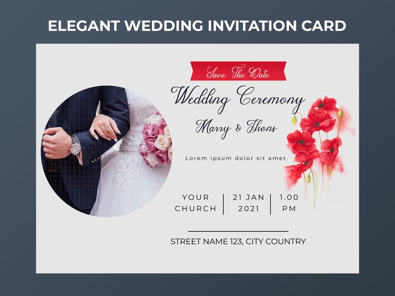 Elegant Wedding Invitation Card - Save the Date invitation design invitation card wedding card