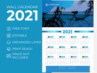 Wall Calendar 2021 Ocean Blue for Corporate Business Agency desk calendar 2021 extra large wall calendar 2021 creative wall calendar 2021 creative calender design 2021 calendar 2021