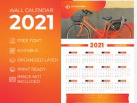 Wall Calendar 2021 Sweet Orange for Corporate Business Agency desk calendar 2021 extra large wall calendar 2021 creative wall calendar 2021 creative calender design 2021 calendar 2021