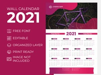 Wall Calendar 2021 Awesome Purple for Corporate Business Agency desk calendar 2021 extra large wall calendar 2021 creative wall calendar 2021 creative calender design 2021 calendar 2021