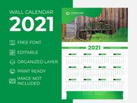 Wall Calendar 2021 Nature Green for Corporate Business Agency desk calendar 2021 extra large wall calendar 2021 creative wall calendar 2021 creative calender design 2021 calendar 2021