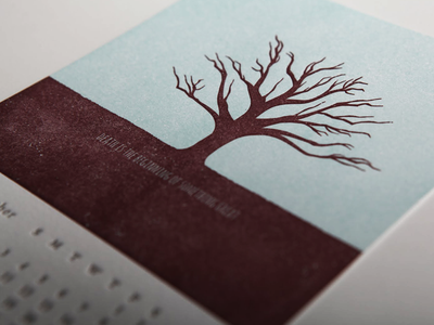 Death is the beginning of something great tree calendar death grunge letterpress paperreka illustration ohio saa dead distressed fuck yeah