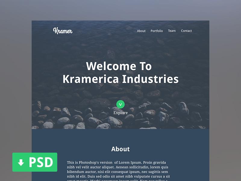 kramer one page portfolio psd by alyoop dribbble