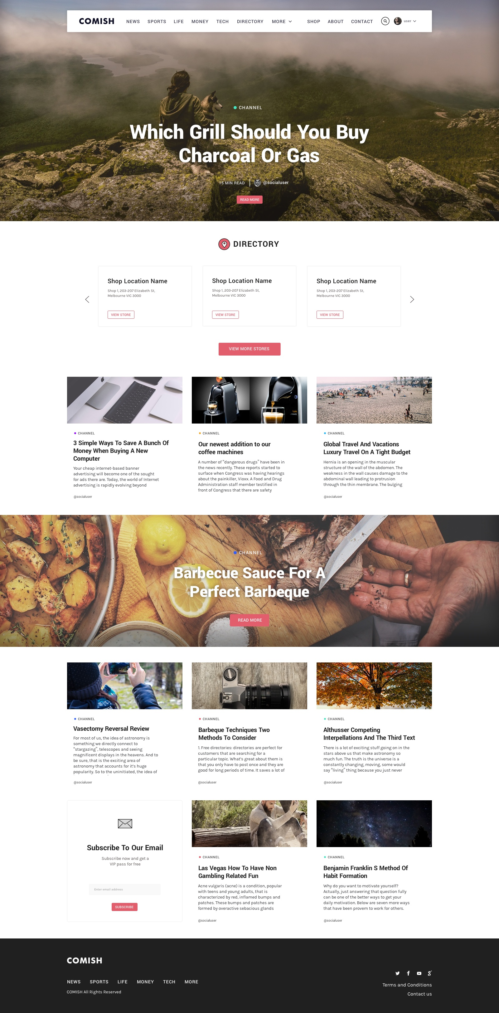 Franchise homepage