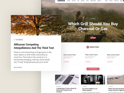 Comish Theme | Landing Page