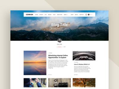 Comish Theme | Blog Landing Page