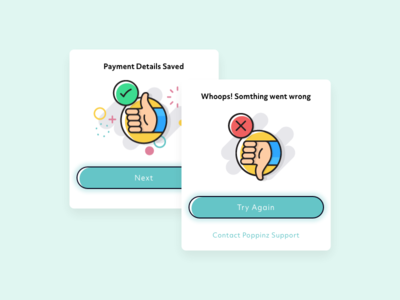 Poppinz | Successful and Unsuccessful Modal