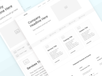 Project Management Consultancy | Landing Page UX Wireframe