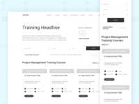 Project Management Consultancy | Training Page UX Wireframe