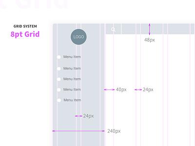 Grid System Dashboard Web App modular experience interface ux design process grid app web