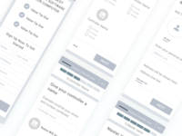 Mobile Onboarding Wireframes