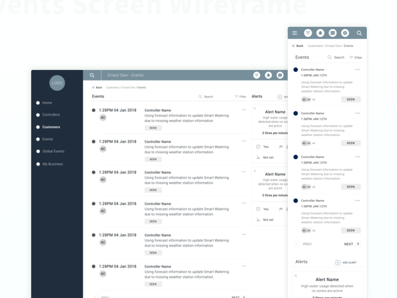 Wireframe dribbbledribbble