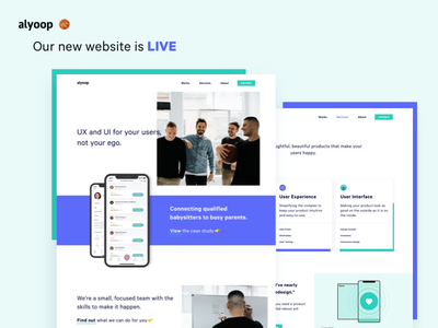 Our New Website Is Live 🏀 🎊 🎉 landing page appdesign agency interface ux web design ui