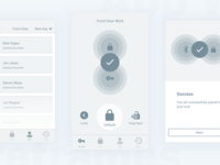 Smart Lock App Wireframes
