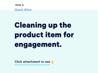 Cleaning up the product item for engagement | Quick Wins 🏀