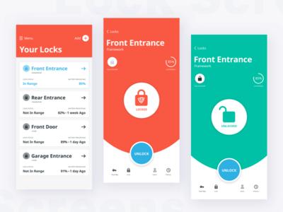 UI Direction Smart Lock App