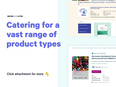 Before and After: Educational Product Page Website