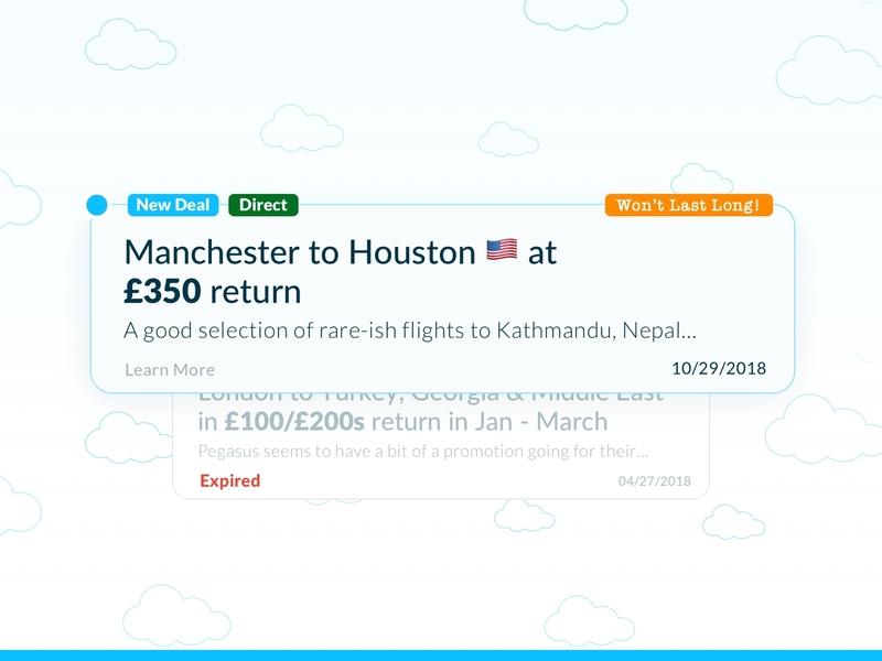 Travel Deal Cards UI emoji product card icon portal trip deal travel mobile interface app web ux design ui