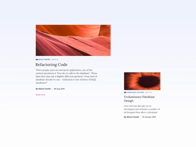 Content Cards | Blog Website UX UI
