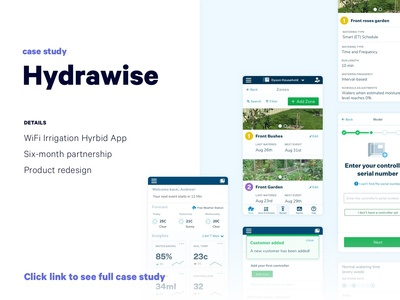 Hydrawise Case Study | UX UI Product Design Mobile Web App