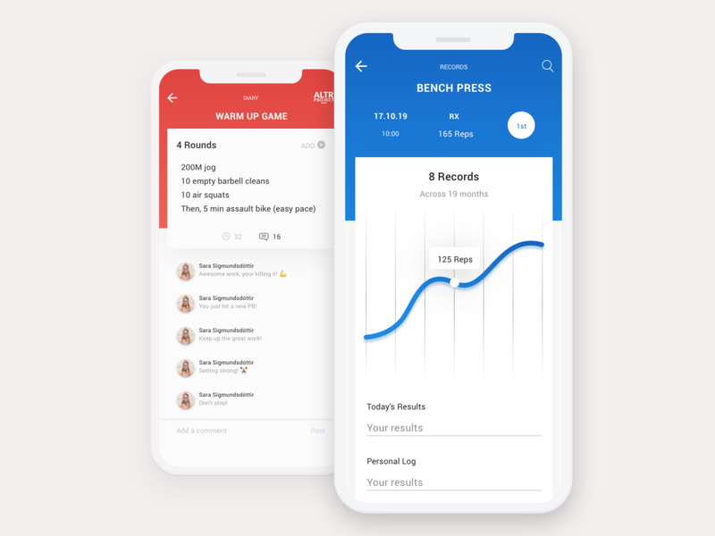 iOS App | ALTR Project uidesign sport health fitness app fitness tracking progress card mobile app app mobile interface user interface ios app ios ui design ux design ui ux
