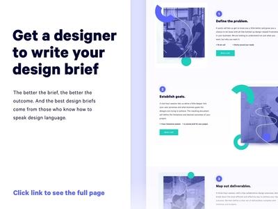 Designer Brief | Product Design, App, Website