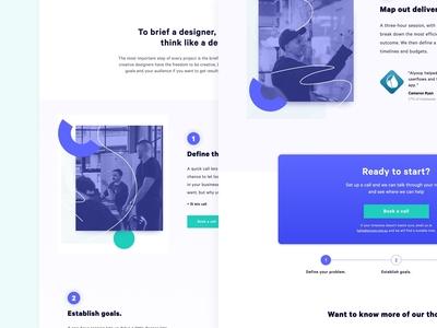 Landing Page Design | Design Brief