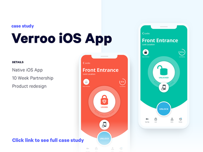 Verroo Smart Lock App | Case Study casestudy usability interaction lock ios mobile interface app ux design ui