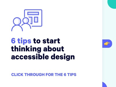 Tips for accessible design
