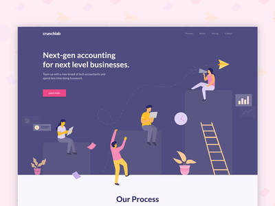 🎉Crunchlab LIVE | Landing page SaaS web website saas website saas vector landing page illustration mobile interface ux design ui