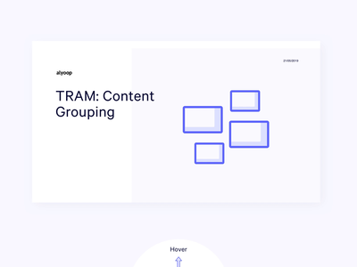 TRAM Website | Content Grouping design process information architecture deck presentation ui website web ux content