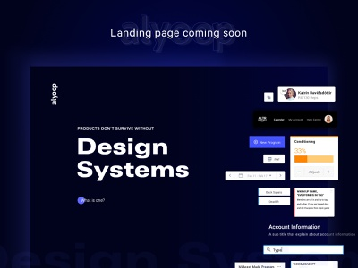 Design System | Landing Page Design website agency dark mode neon card web design web interface ux ui landing page design system