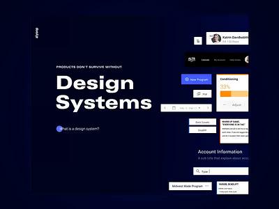 Design System Landing Page | Web Design product design agency design system branding landing page interface web ux design ui