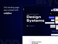 Webflow Page | Design Systems Landing Web