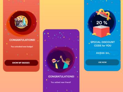 Congrats! celan ux ui ios app discount badgedesign badges achievement congrats reward