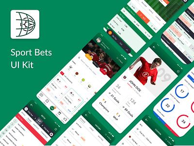 Sport Bets App league uxui match soccer app betting bet ux ui dashboad statistic soccer football esport sports