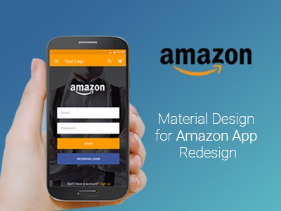 Amazon - Material Design e-commerce landing material design amazon app mobile mobile ui ux amazon.com dribbble google mobile design