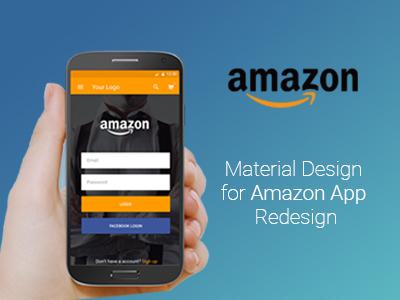 Amazon - Material Design e-commerce landing material design amazon app mobile mobile ui ux amazon.com dribbble google mobile design