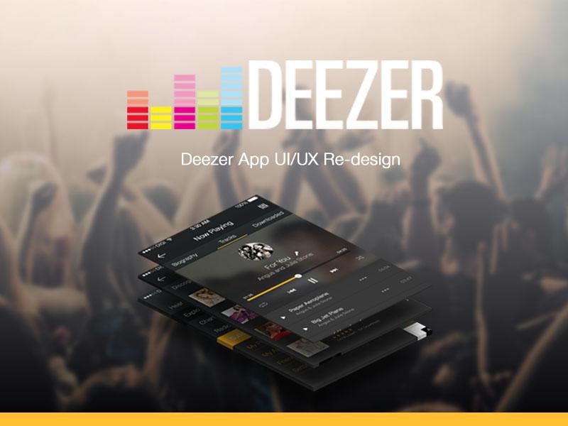 Deezer Re-design for Mobile Platforms app flat ios iphone6 login music player profile deezer song ui ux