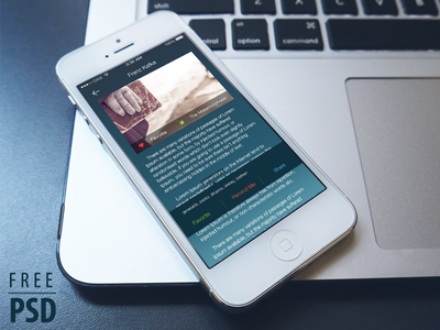 Free Psd: Ebook Reader App Ui Kit network free social communication psd login app book iphone 5 flat design user interface user experience