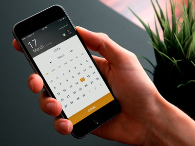 Calendar & Weather Page convention weather events page calendar mobile interaction design light theme minimal clean app web ux ui