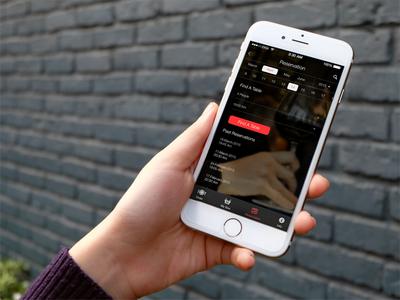 Restaurant Reservation Page convention restaurant calendar mobile interaction design reservation app web ux ui