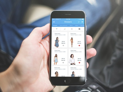 E-Commerce App UI / UX shopping app e-commerce fashion filters search ui ux interaction ios mobile production