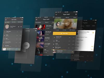 Music Player App UI creative mobile ios inspiration app article share ux music ui
