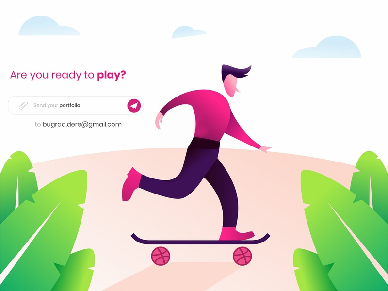 2 Dribbble Invites creative vector ball pink play lizard illustration ux ui icon dribbble invitation invite draft design